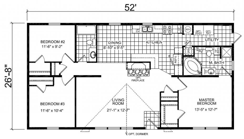 Redman mobile home floor plans 28 images redman for American west homes floor plans