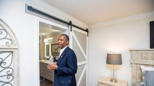 HUD Secretary Ben Carson touring a UMH Manufactured Home at the Innovative Housing Showcase