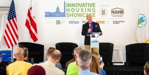 UMH Properties CEO Sam Landy speaking at the Innovative Housing Showcase in Washington, D.C.